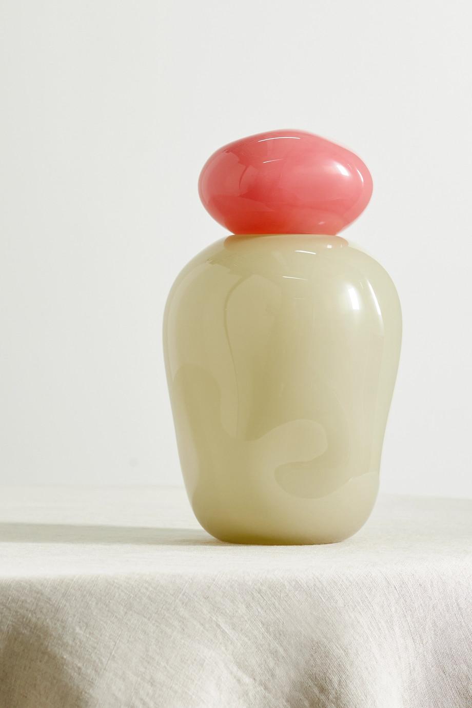 Helle Mardahl Bonbon Medi zweifarbige Vase aus Glas