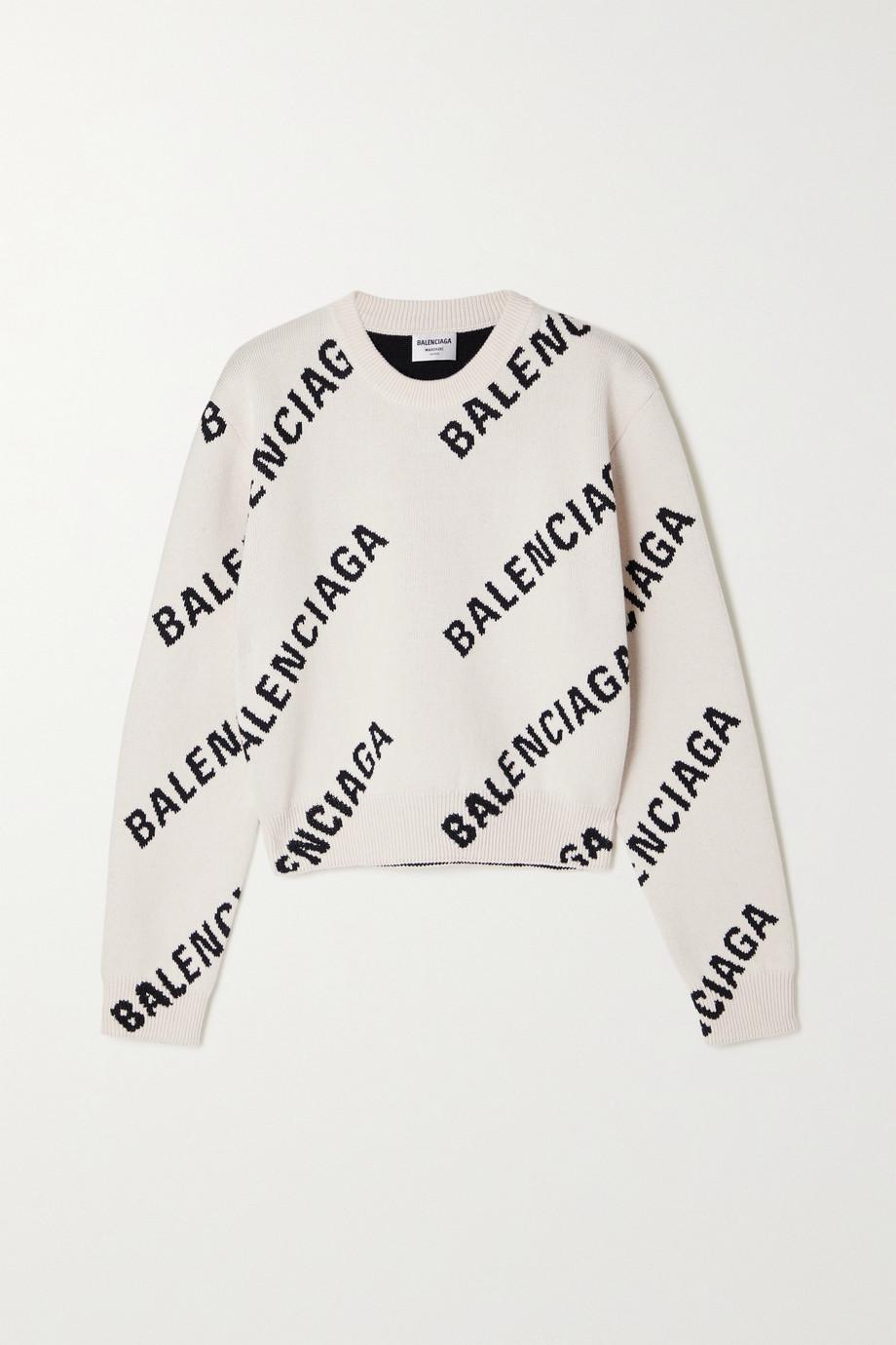 Balenciaga Intarsia cotton-blend sweater