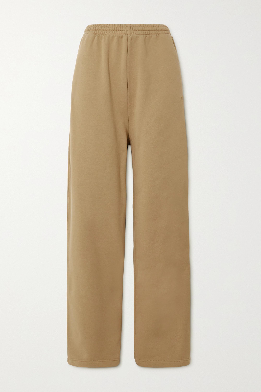 Balenciaga - Embroidered cotton-jersey track pants