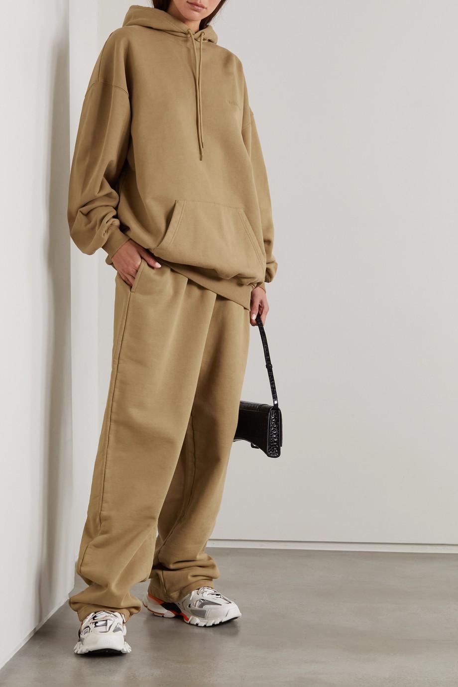 Balenciaga Embroidered cotton-jersey track pants