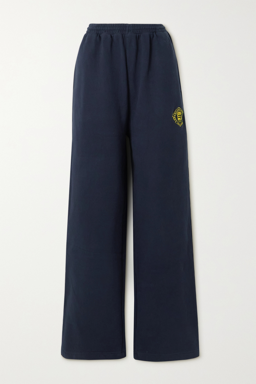 Balenciaga - Quest appliquéd cotton-jersey track pants