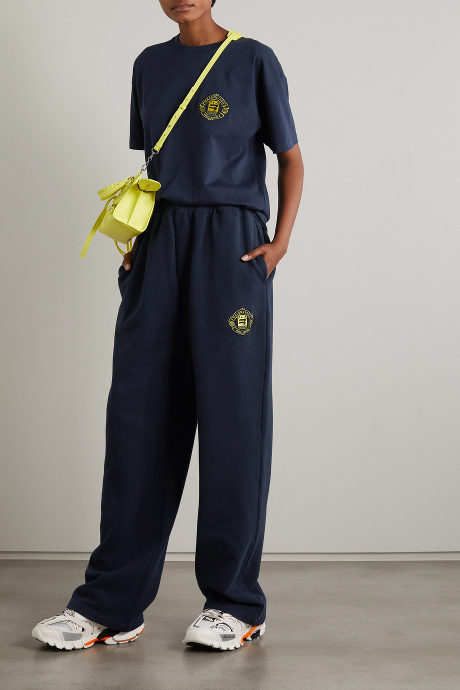 Balenciaga Pantalon de survêtement en jersey de coton à appliqué Quest
