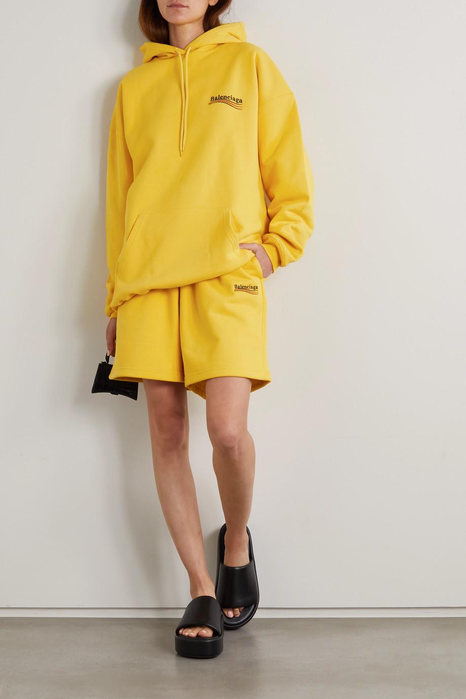 Balenciaga Embroidered cotton-jersey shorts