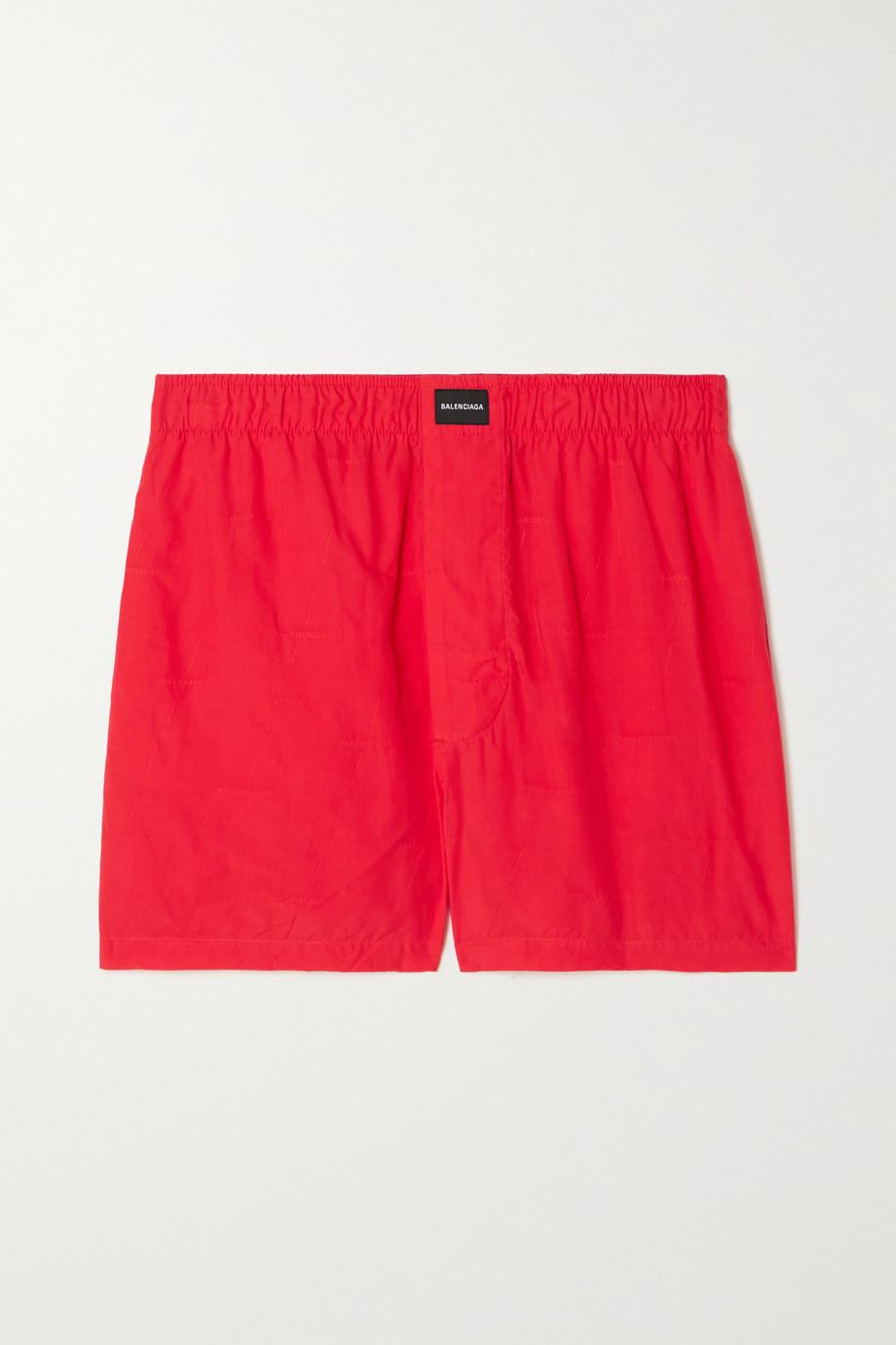 Balenciaga Appliquéd crinkled Lyocell-jacquard shorts