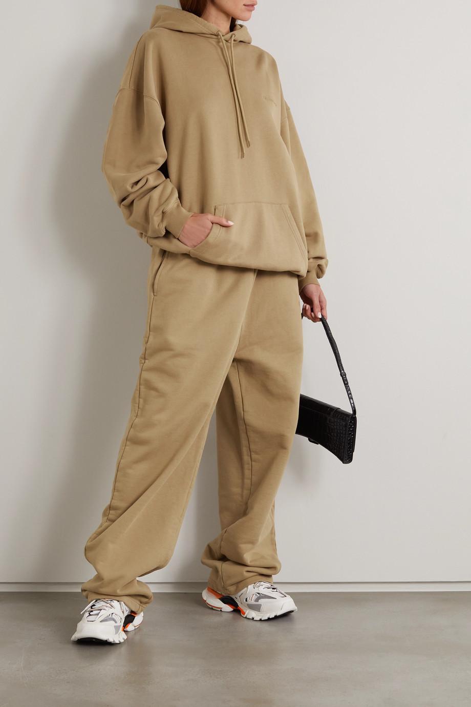 Balenciaga Oversized-Hoodie aus Baumwoll-Jersey mit Stickerei