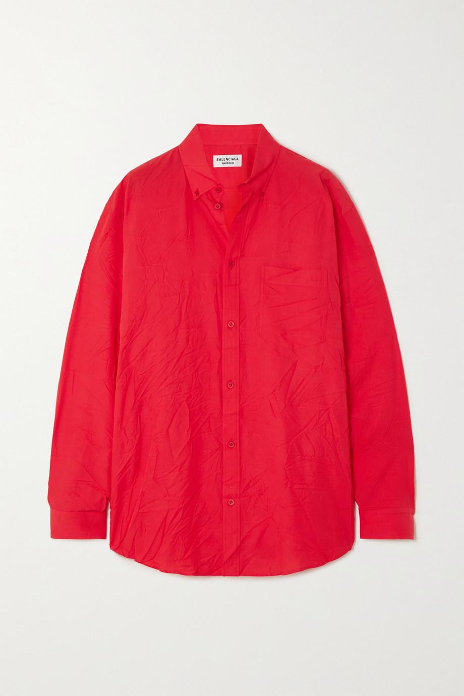 Balenciaga Crinkled Lyocell-jacquard shirt