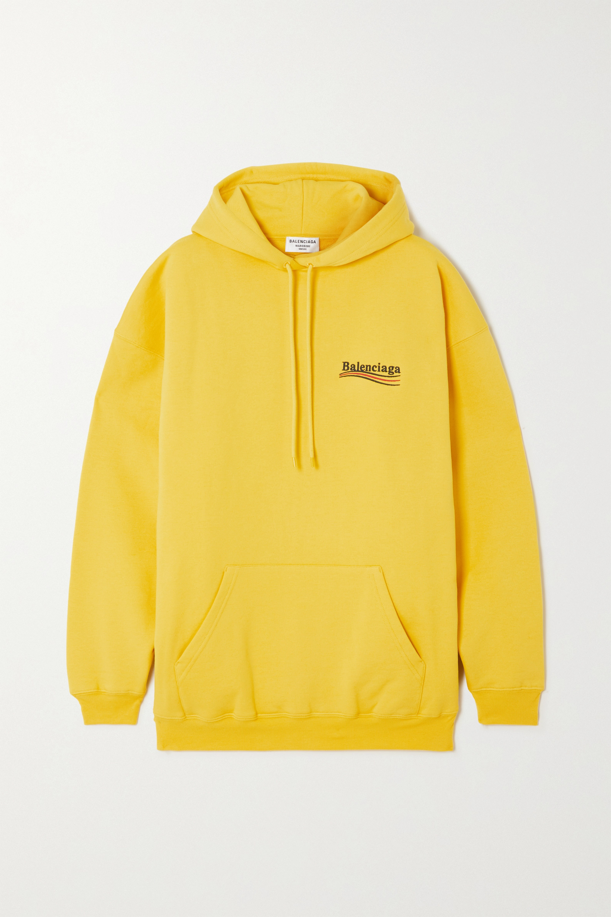 Balenciaga - Oversized embroidered cotton-jersey hoodie
