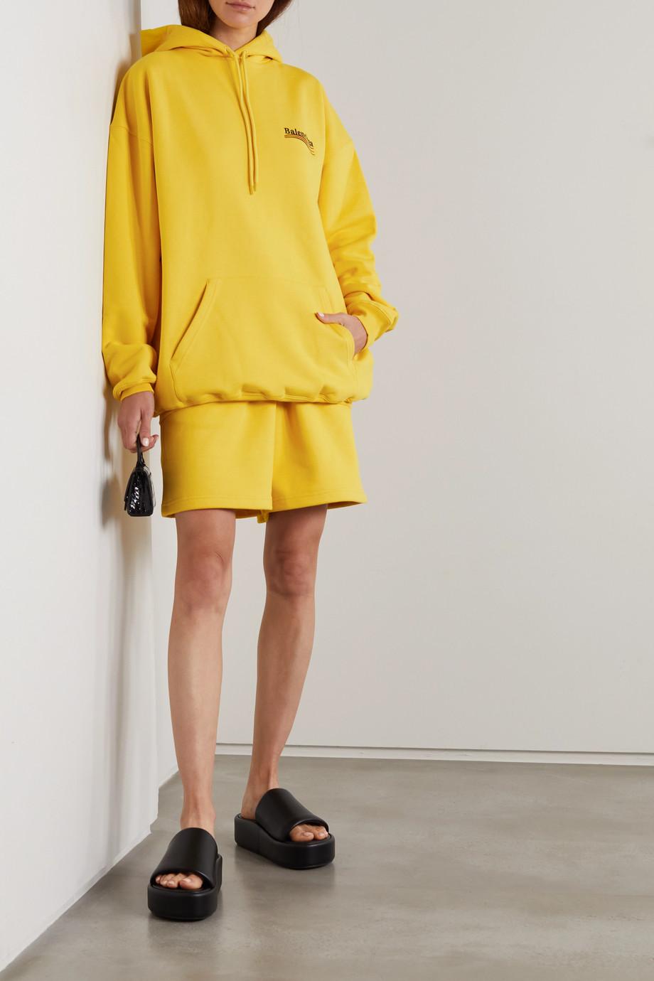 Balenciaga Sweat à capuche oversize en jersey de coton à broderies