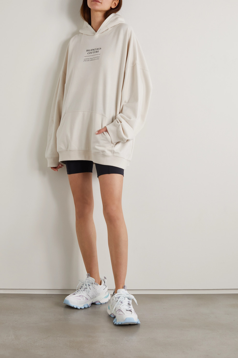 Balenciaga Oversized embroidered jersey hoodie
