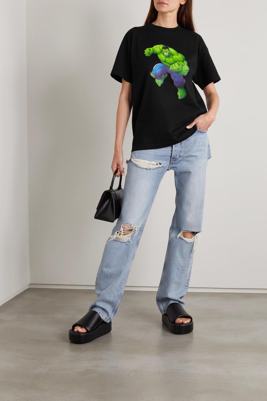 Balenciaga T-shirt en jersey de coton imprimé