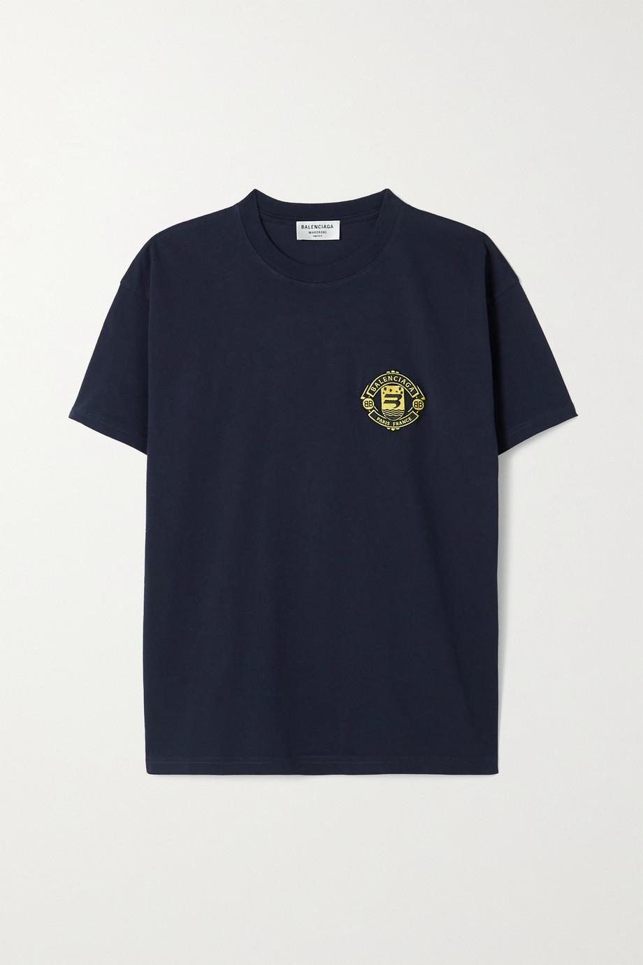 Balenciaga T-shirt en jersey de coton à appliqué