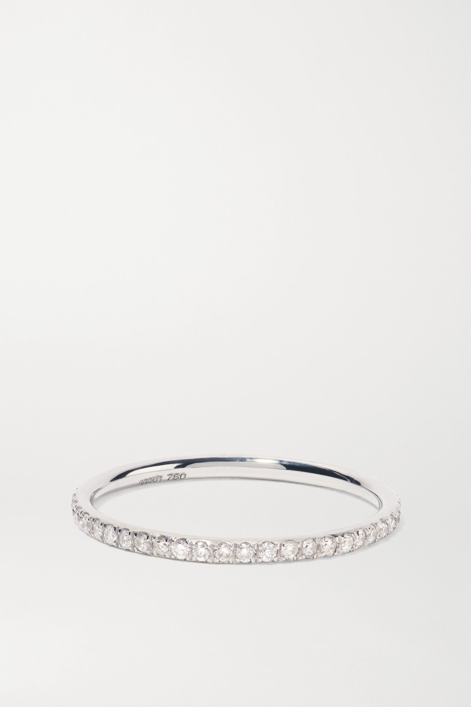 Ileana Makri Thread 18-karat white gold diamond ring
