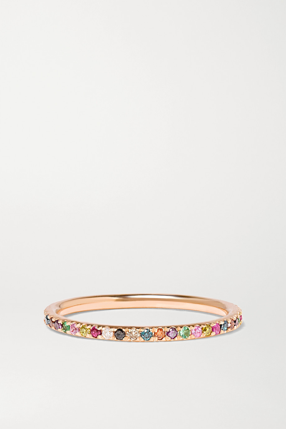 Ileana Makri Thread 18-karat rose gold multi-stone ring