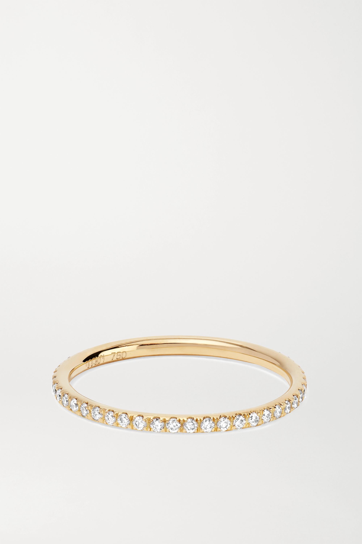 Ileana Makri Thread 18-karat gold diamond eternity ring
