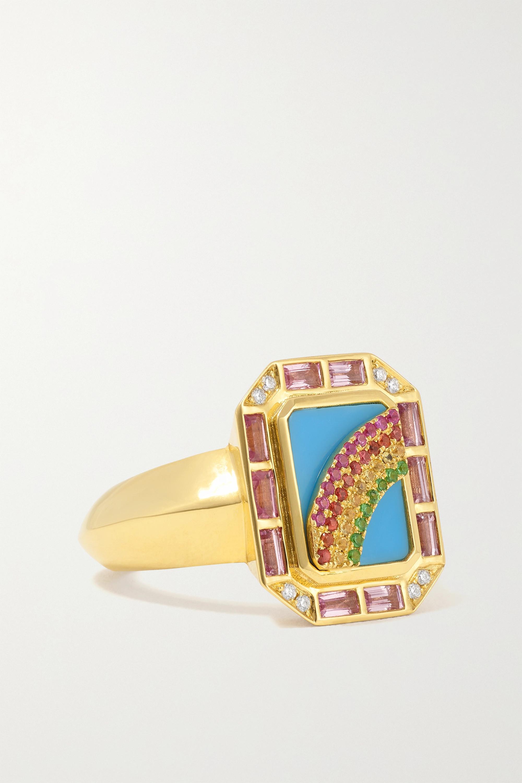 Sorellina - Il Arco 18-karat gold multi-stone ring