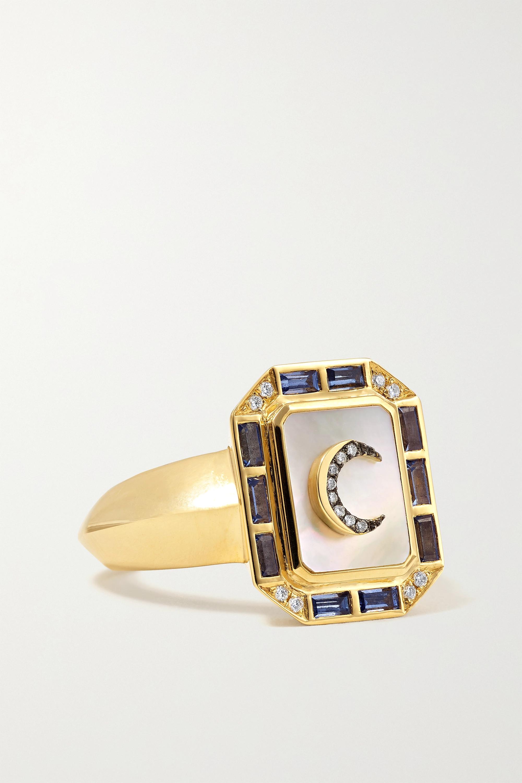 Sorellina - La Luna 18-karat gold multi-stone ring