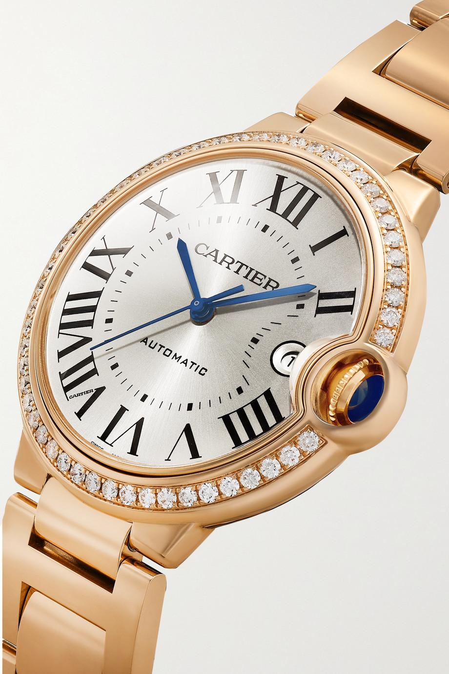 Cartier Ballon Bleu de Cartier Automatic 40mm 18-karat pink gold and diamond watch