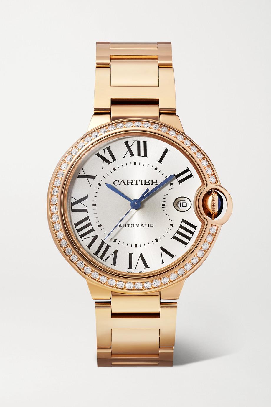 Cartier Montre en or rose 18 carats et diamants Ballon Bleu de Cartier Automatique 40 mm