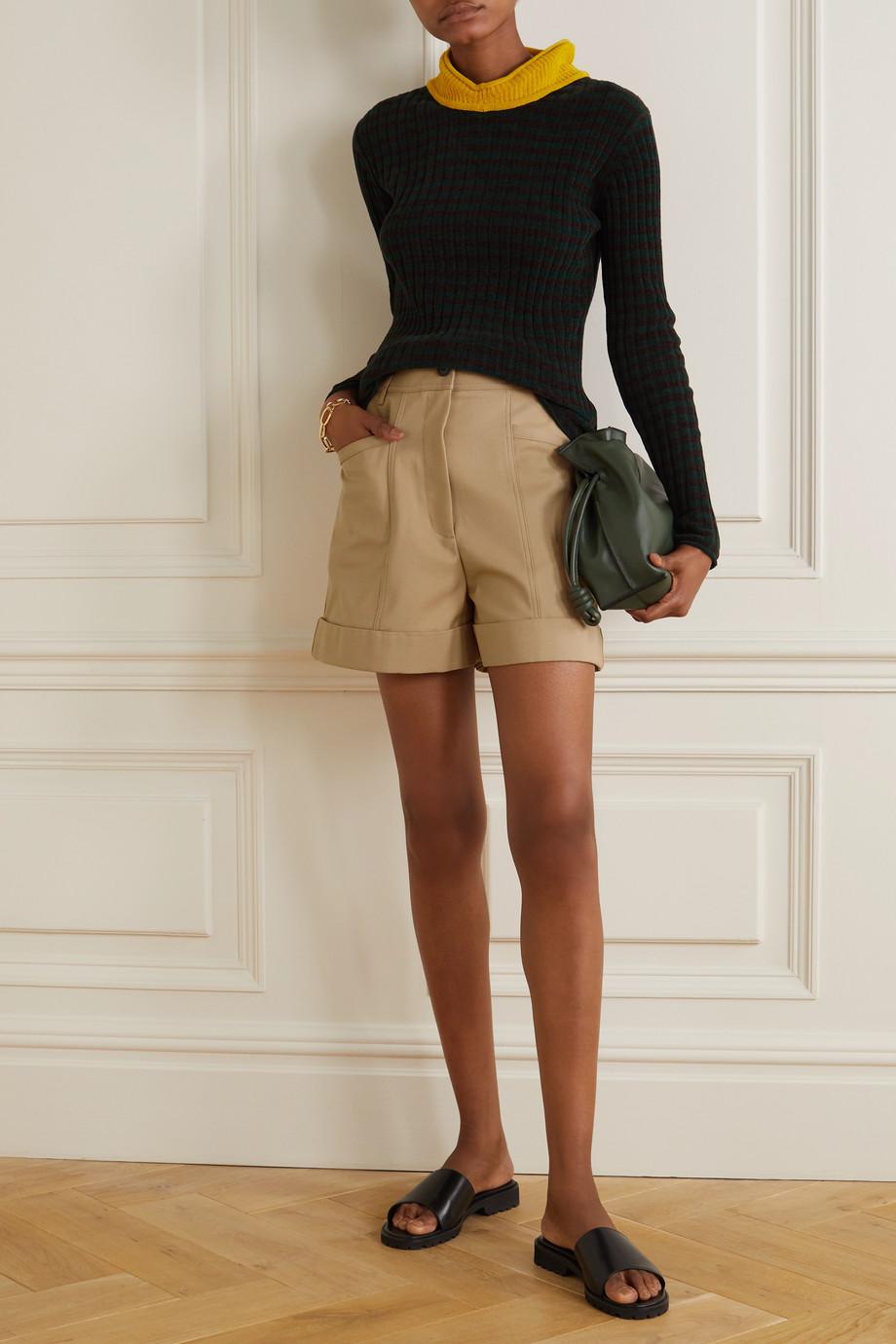 Victoria Beckham Short en serge de coton mélangé