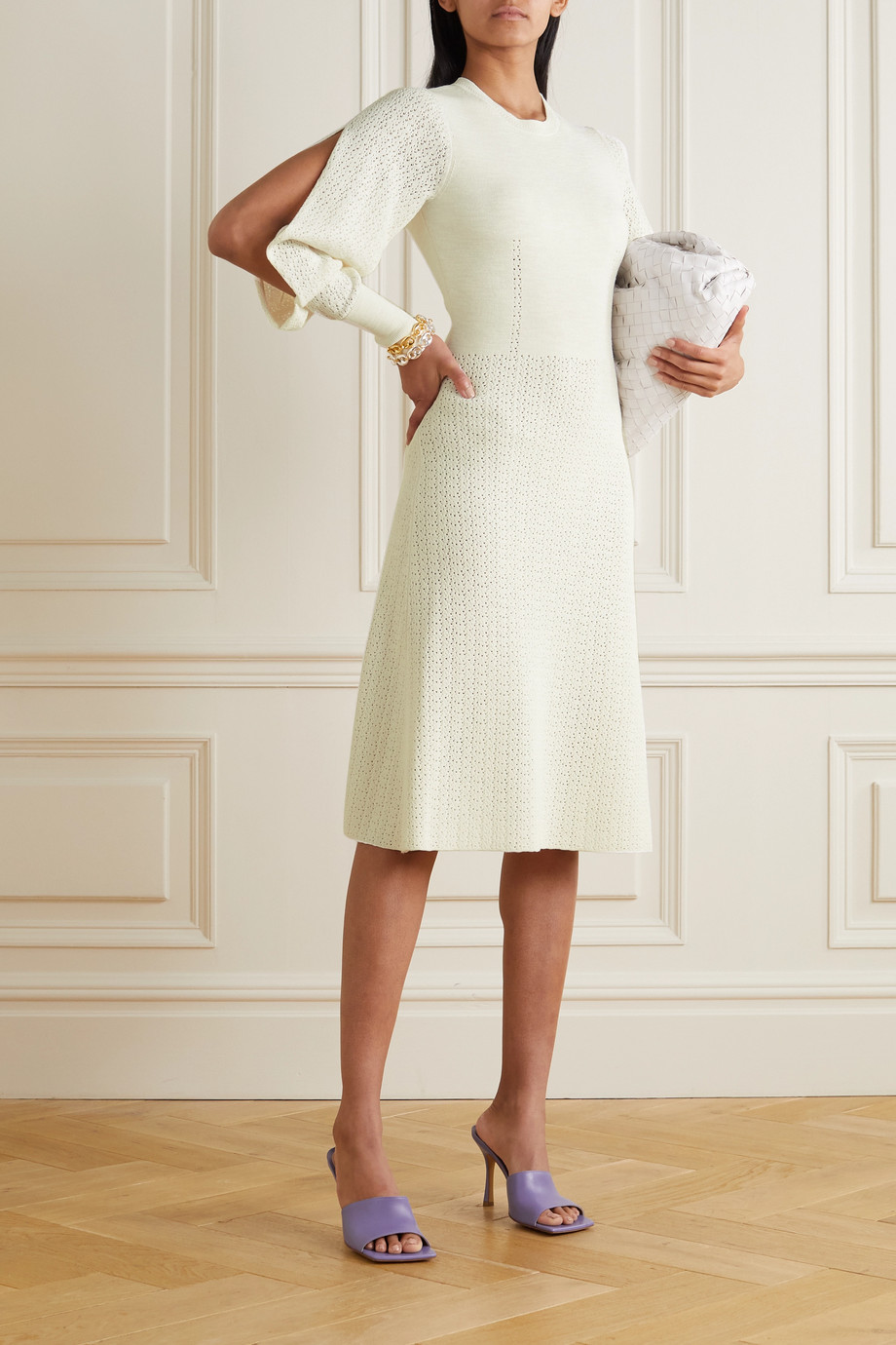 Victoria Beckham Open-knit midi dress