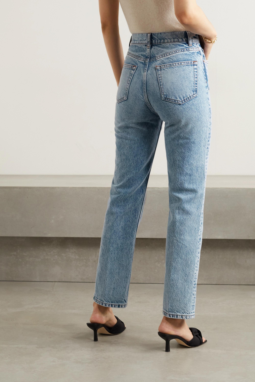 Reformation Cynthia hoch sitzende Jeans mit geradem Bein