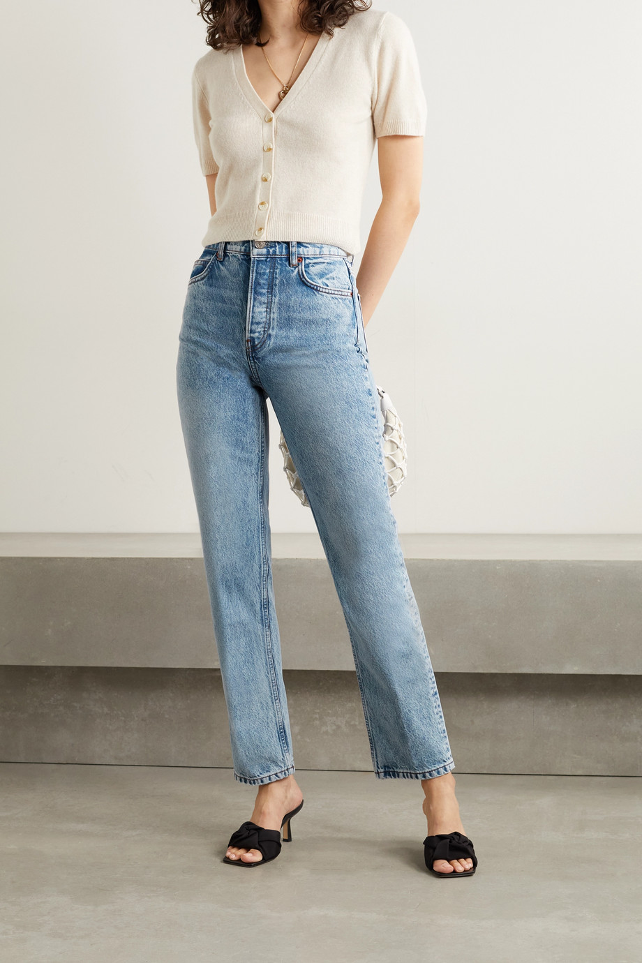 Reformation Cynthia high-rise straight-leg jeans