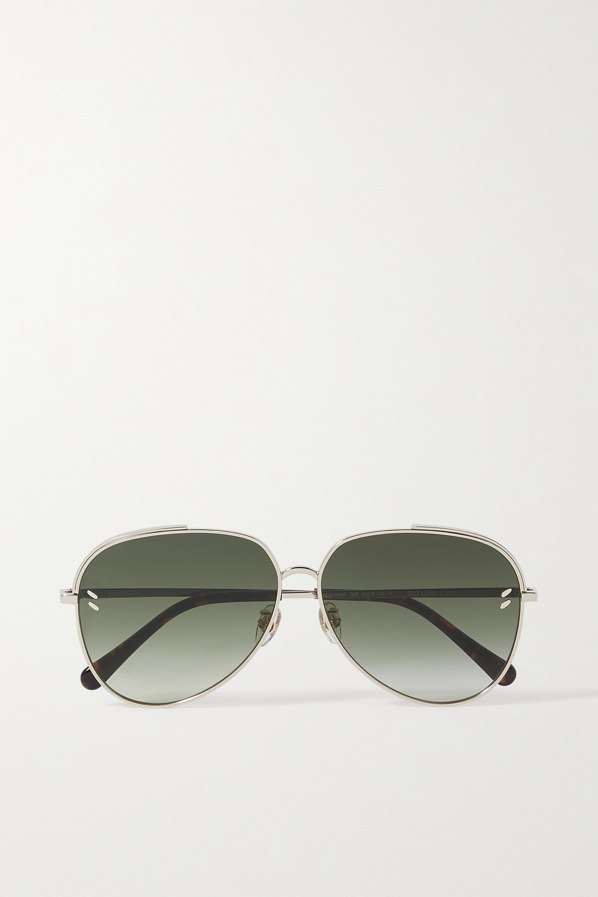 Stella McCartney Aviator-style gold-tone sunglasses