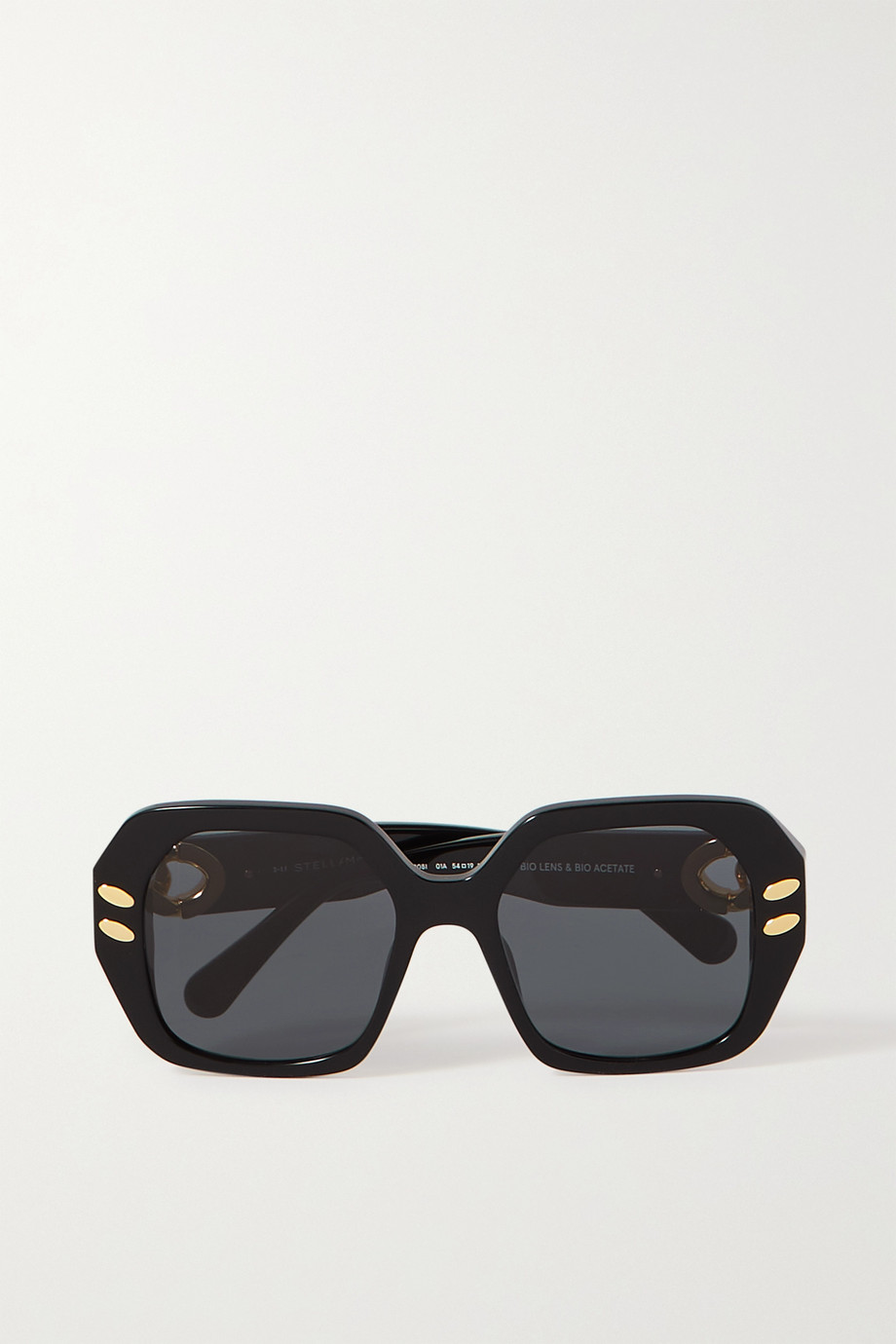 Stella McCartney The Falabella square-frame acetate and gold-tone sunglasses