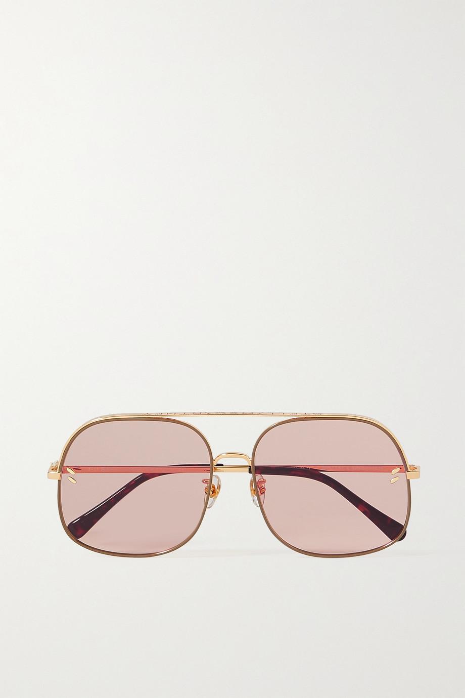 Stella McCartney Aviator-style gold-tone sunglasses