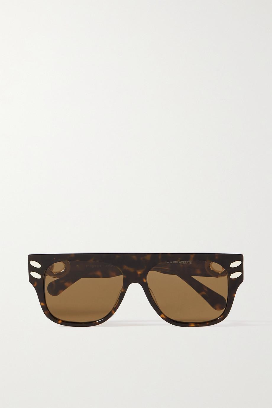 Stella McCartney The Falabella D-frame tortoiseshell acetate sunglasses
