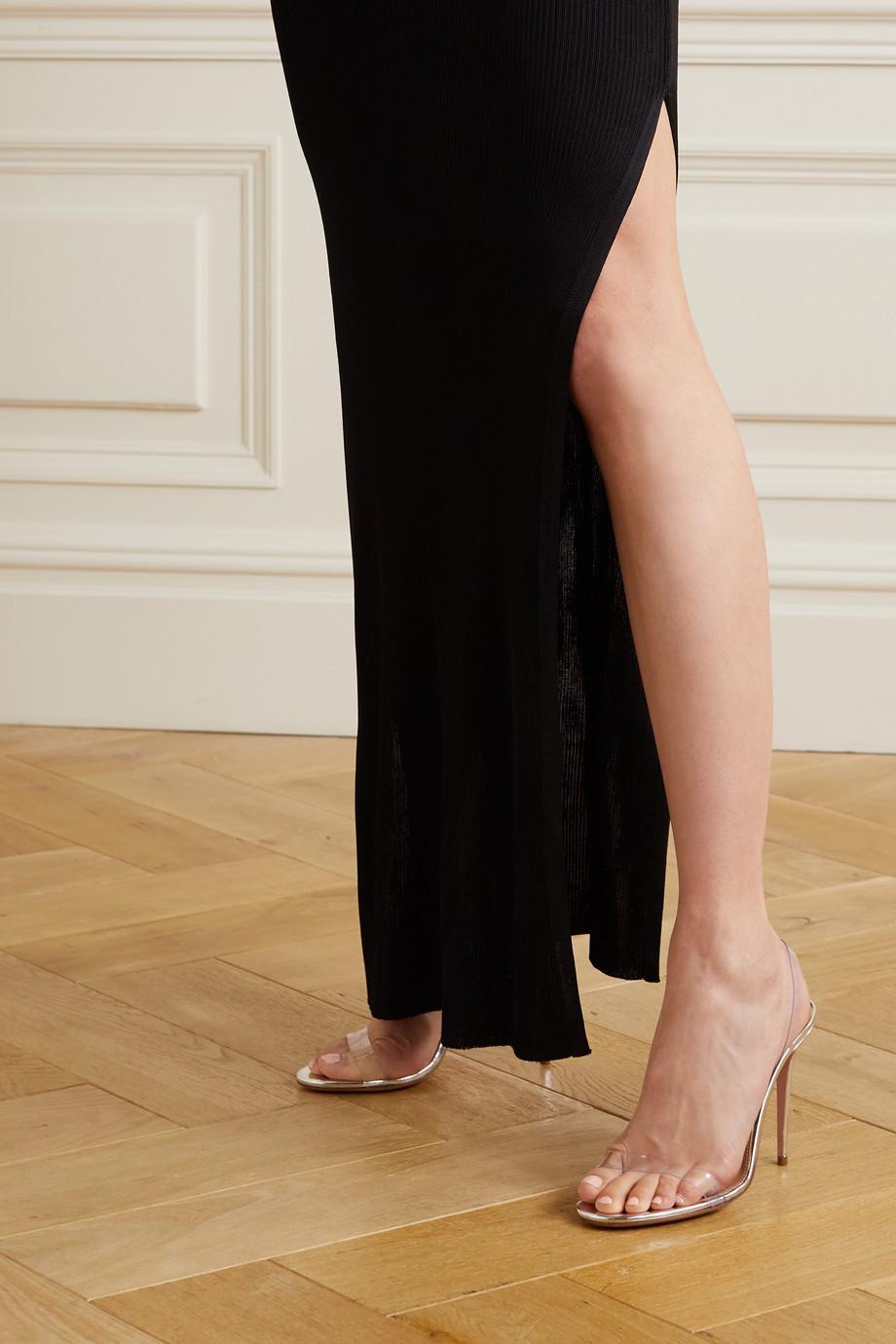 Aquazzura So Nude 105 Slingback-Sandalen aus PVC
