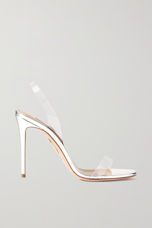 Aquazzura So Nude 105 PVC slingback sandals