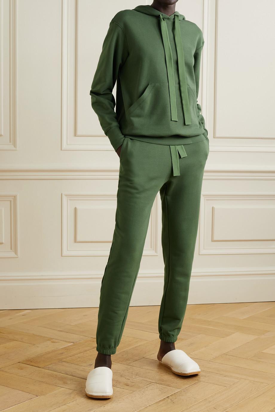 I.D. Sarrieri Serene Sundays satin-trimmed cotton-blend jersey track pants