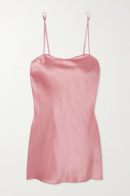 I.D. Sarrieri Lombard Street silk-blend satin chemise