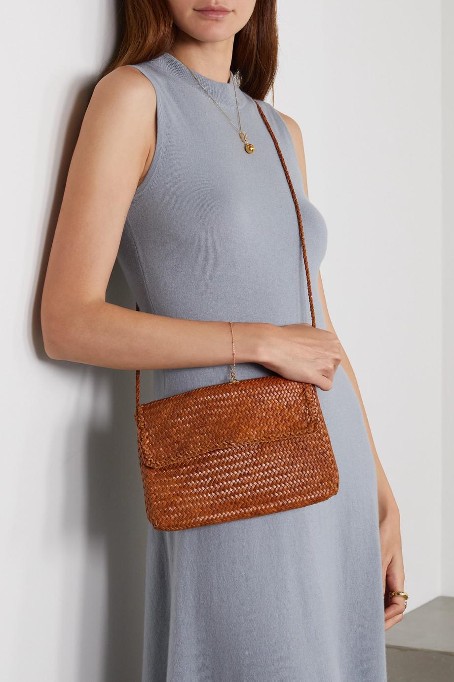 Dragon Diffusion Polo Pochette small woven leather shoulder bag