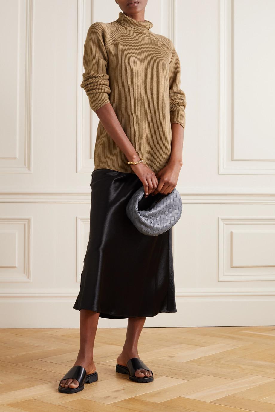 Max Mara + Leisure Gimmy Rollkragenpullover aus gerippter Wolle