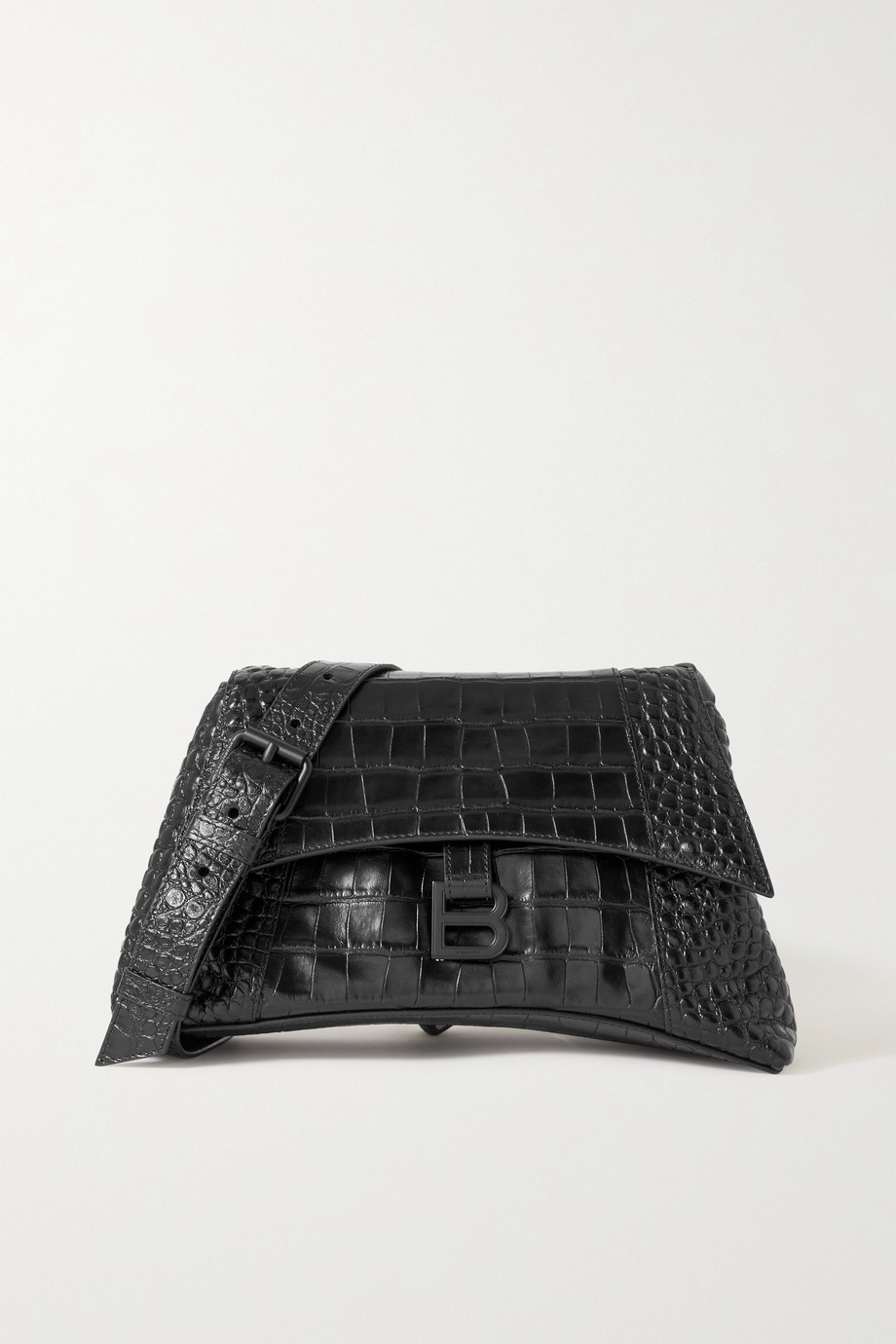 Balenciaga Hourglass medium croc-effect leather shoulder bag