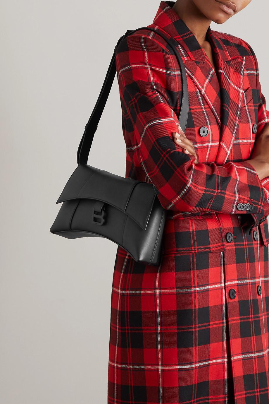 Balenciaga Sac porté épaule en cuir Hourglass XS