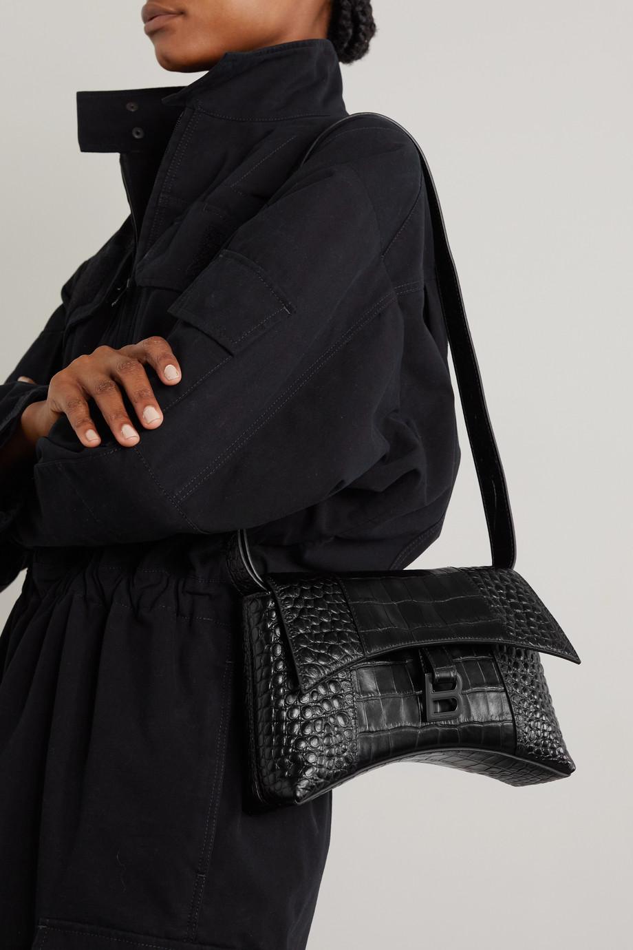 Balenciaga Hourglass XS croc-effect leather shoulder bag