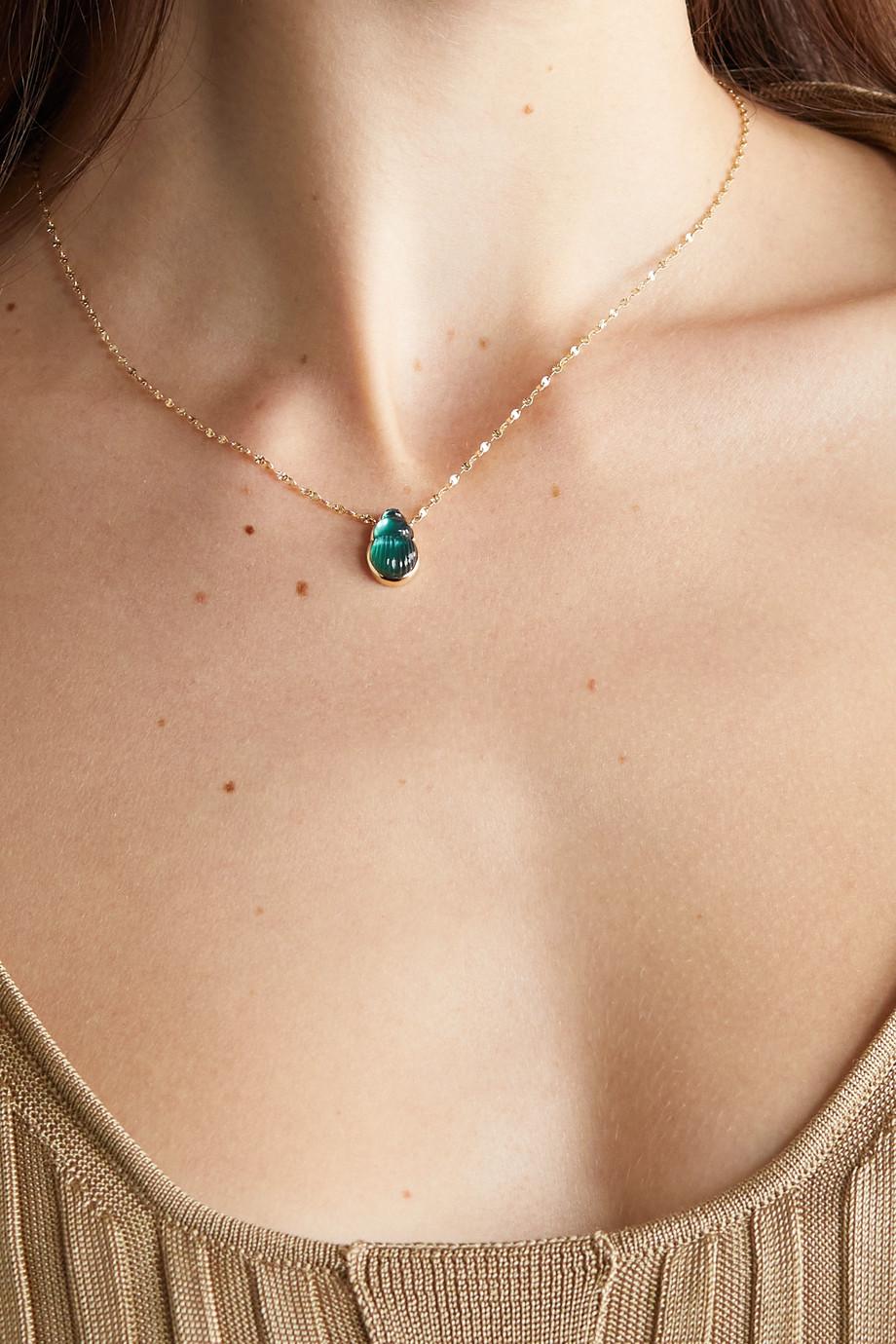 Lito Collier en or 14 carats et calcédoine Small Sienna