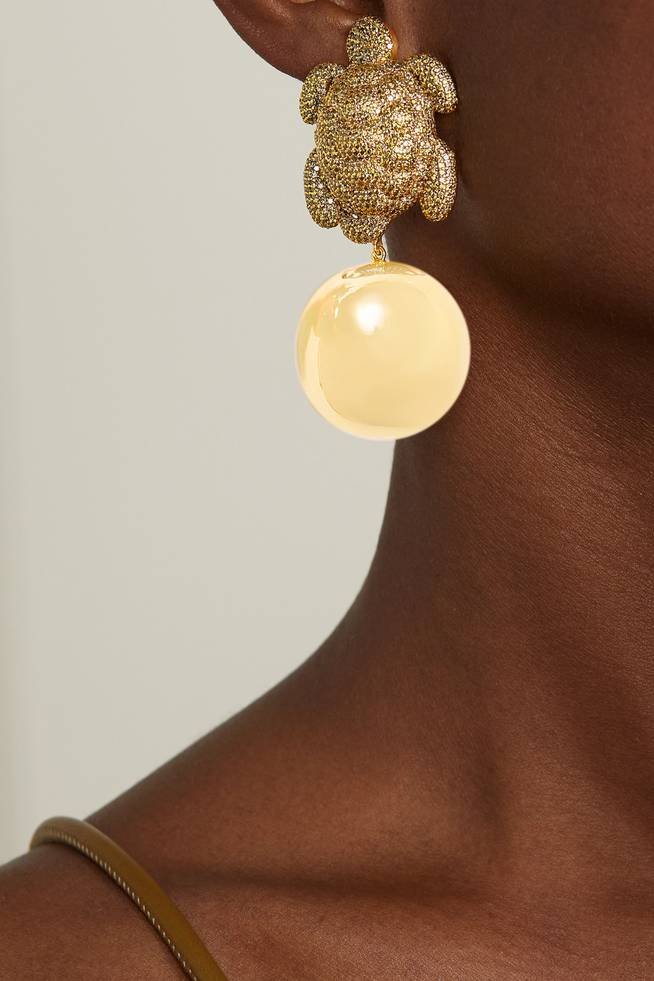 Begüm Khan Caretta Party gold-plated crystal clip earrings