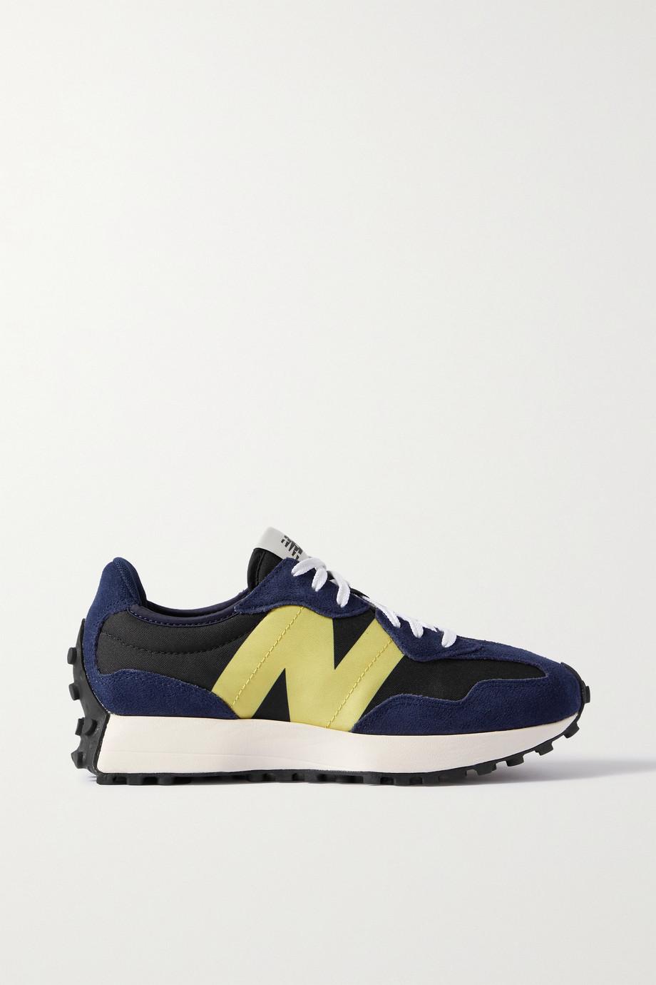 New Balance 327 Sneakers aus Veloursleder und Canvas