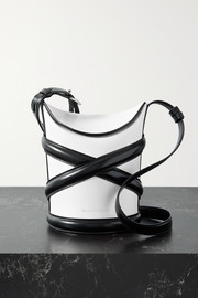 Alexander McQueen The Curve small two-tone leather bucket bag