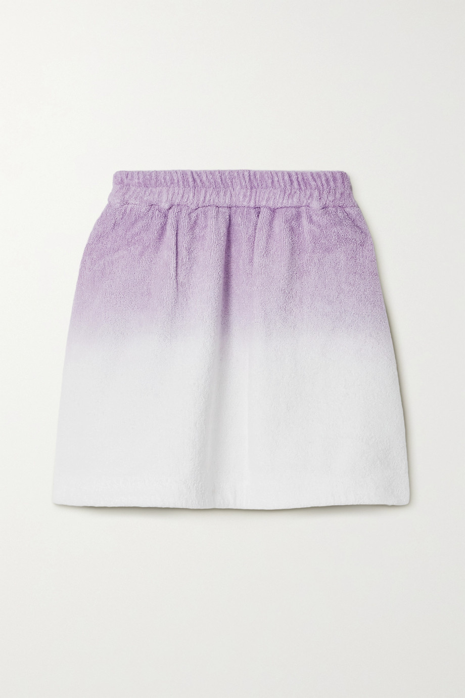 TERRY Mini-jupe en molleton de coton ombré Isola