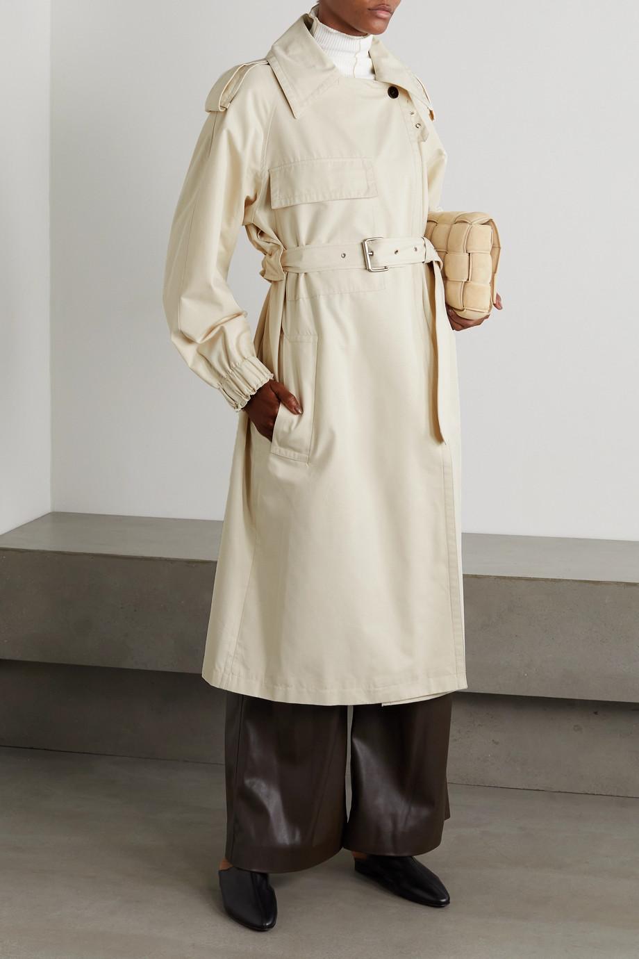 LVIR Trench-coat en serge de coton mélangé à volants