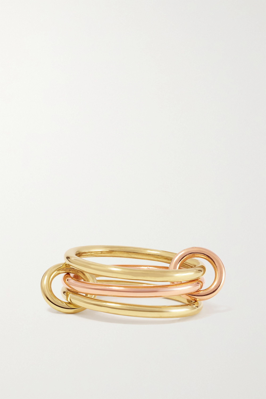 Spinelli Kilcollin Solarium set of three 18-karat yellow and rose gold rings