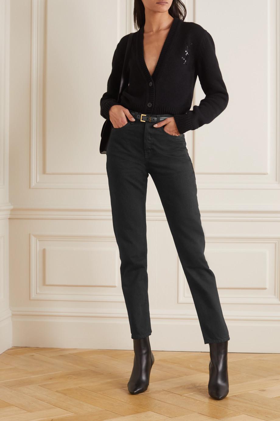 SAINT LAURENT Jean slim taille haute