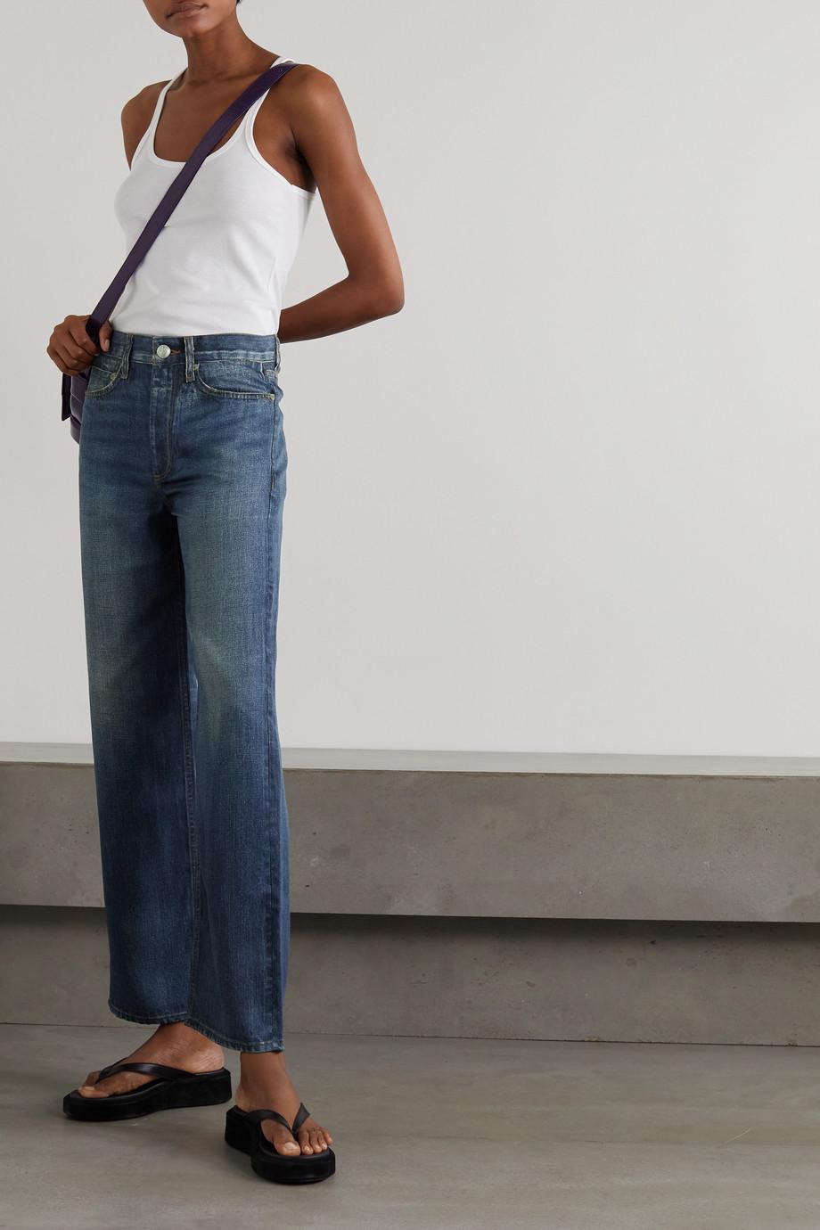 rag & bone Miramar Hose mit geradem Bein aus bedrucktem Tencel™ Lyocell