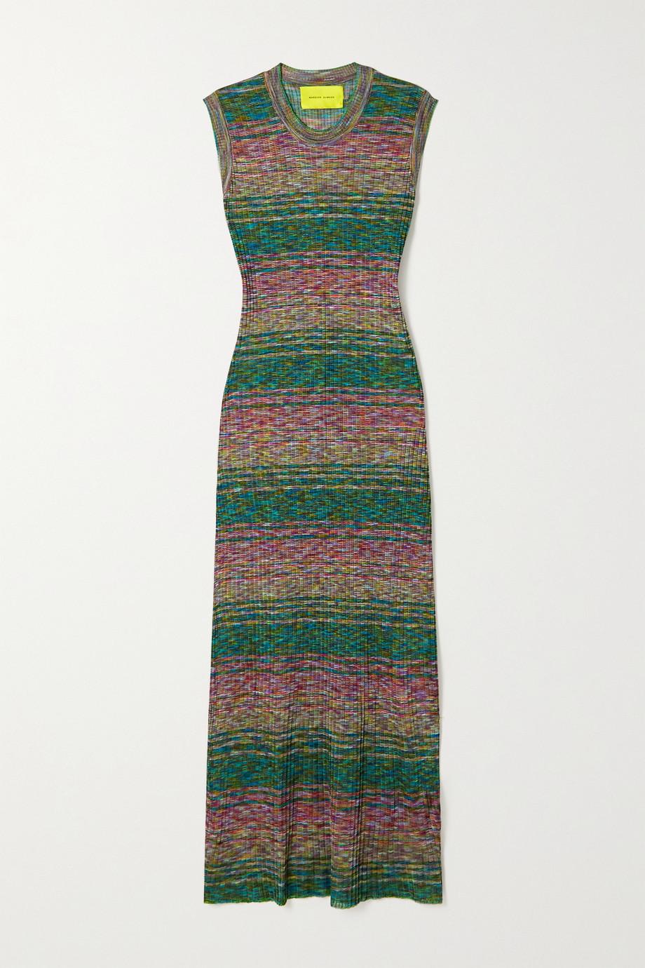 Marques' Almeida Robe longue en mailles côtelées recyclées à rayures