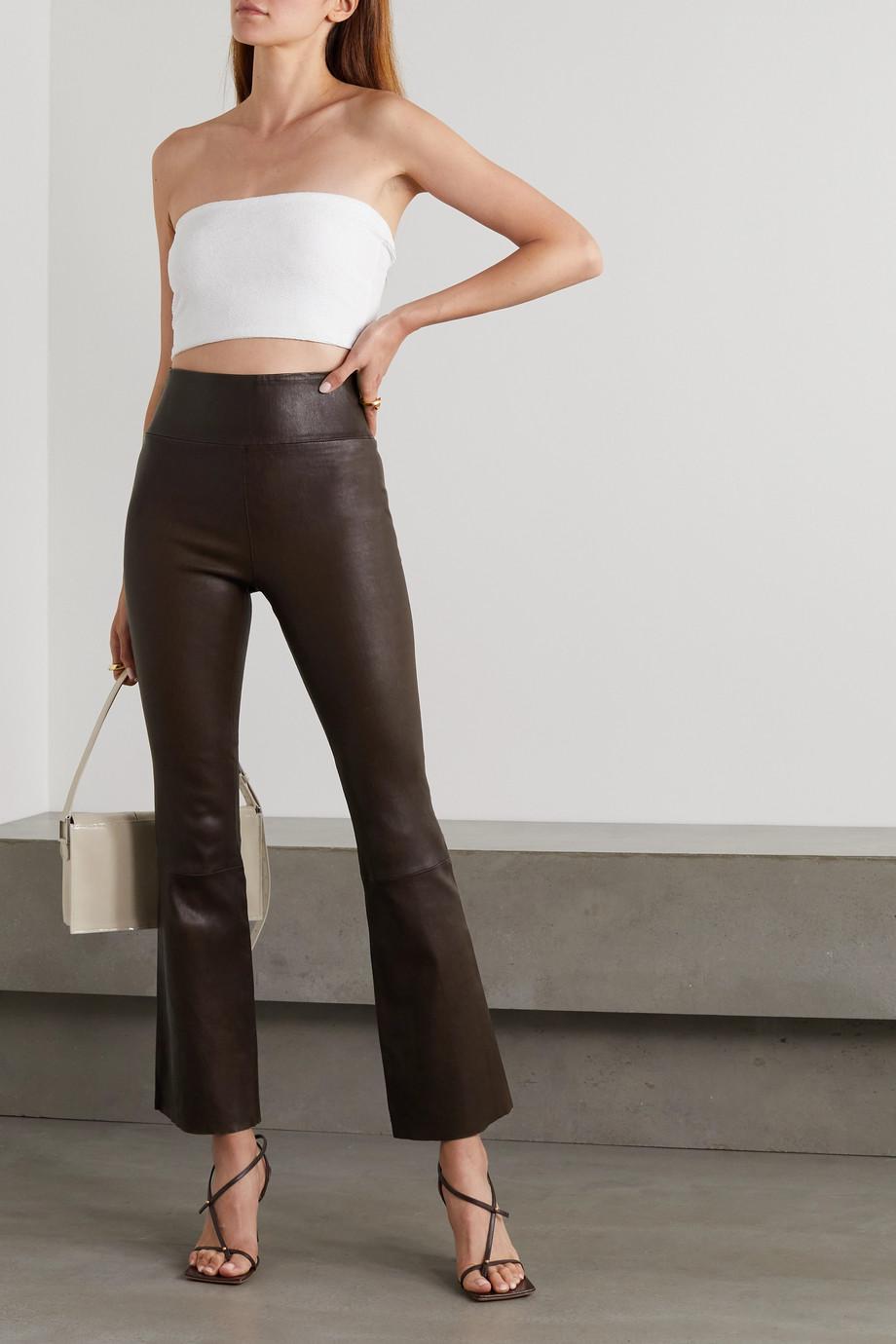 SPRWMN Pantalon évasé en cuir